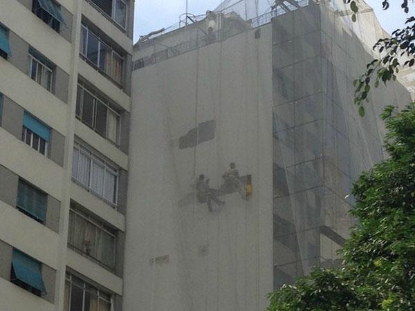 APLICAÇÃO DE TEXTURA FACHADA HOSPITAL 9 DE JULHO
